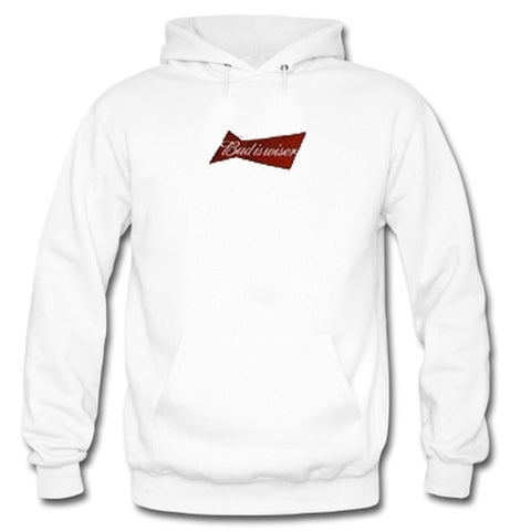 bud is wiser white color Hoodies
