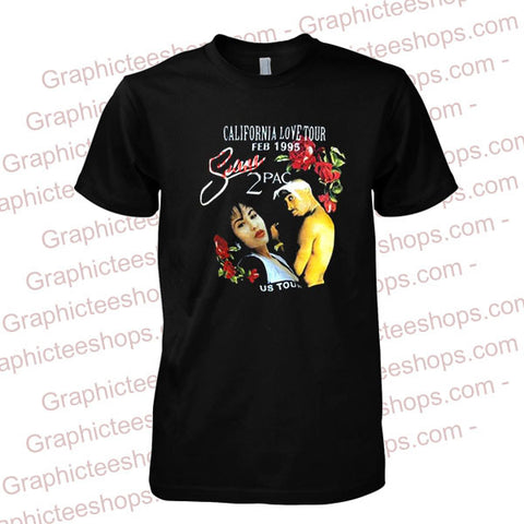 california love tour 2 pac T shirt
