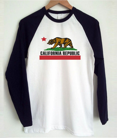 california republic raglan longsleeve t shirt