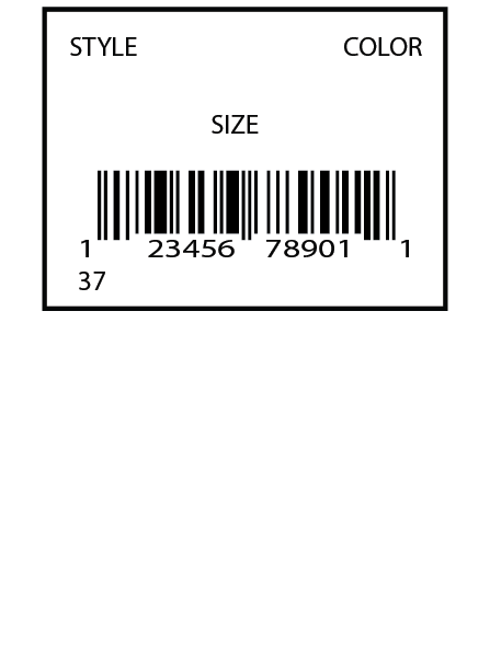 Macy's Direct Label 2 x 1.5