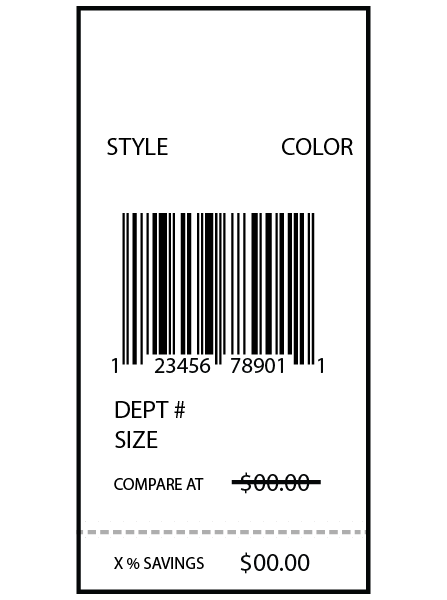 Nordstrom Rack Floor Ticket 1.5 x 3