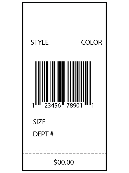 Nordstrom Floor Ticket 1.5 x 3