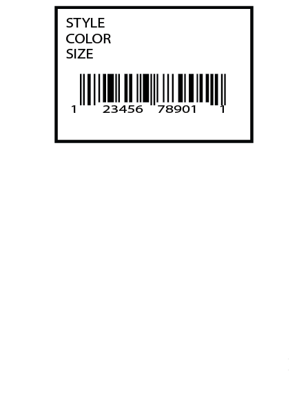 Saks Fifth Avenue Direct Label 1 x 1.5