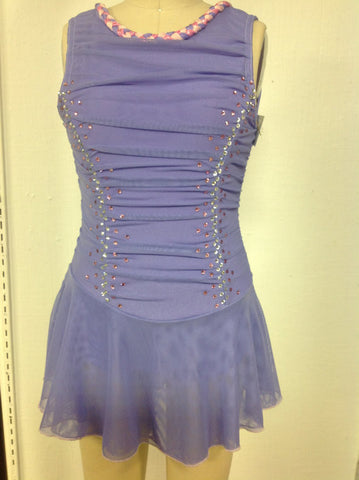 Youth Large Lavender Skating Dress