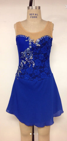 Adult Large Royal Skating Dress