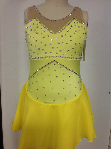 Yellow Youth Large Skating Dress