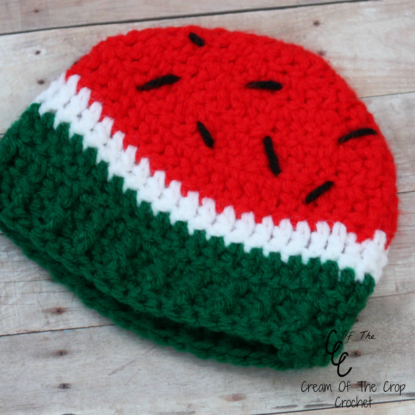 Preemie Newborn Watermelon Hat Crochet Pattern