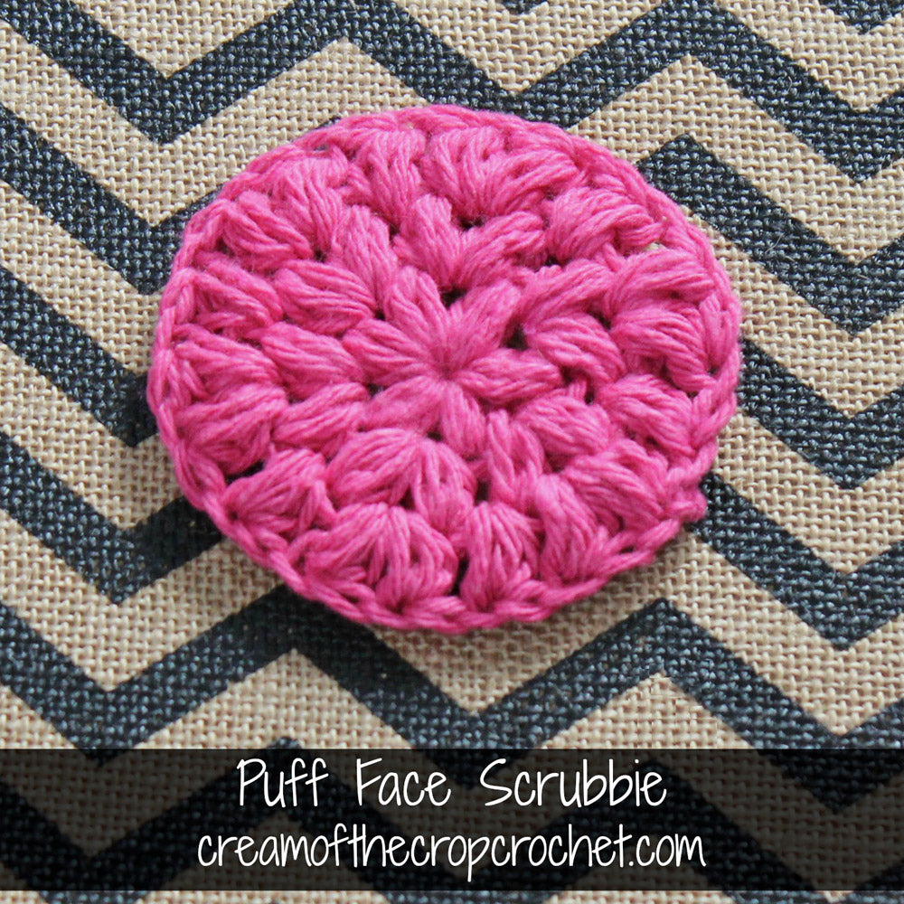 Puff Face Scrubbie Crochet Pattern