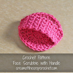 Face Scrubbie with Handle Crochet Pattern