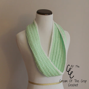 Front loop Cowl Crochet Pattern