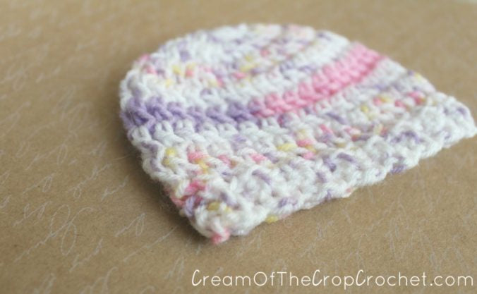 1-3 lb Preemie Light Worsted Weight Stretchy Ribbed Hat Crochet Pattern