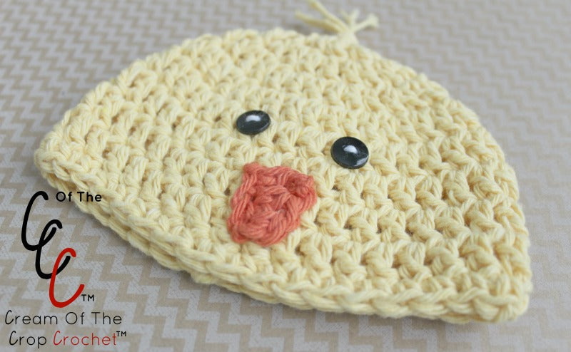 18 Inch Doll Chick Hat Crochet Pattern