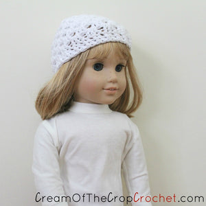 18 Inch Doll Cameron Hat Crochet Pattern