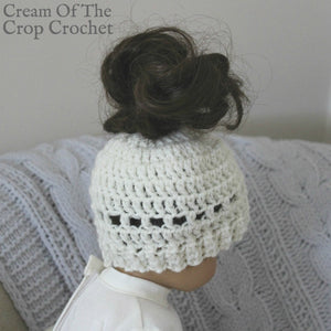18 Inch Doll Madison Messy Bun Hat Crochet Pattern