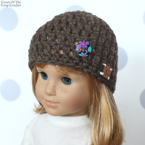 18 Inch Doll Tori Hat Crochet Pattern
