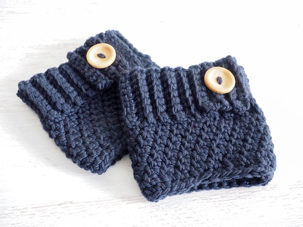 Even Moss Stitch Boot Cuff Crochet Pattern Maker Goodies