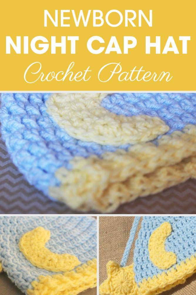 Newborn Nightcap Hat Crochet Pattern