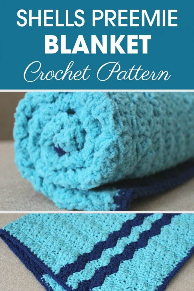 Shells Preemie Blanket Crochet Pattern
