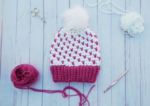 Fair-Isle Crochet Hat Pattern