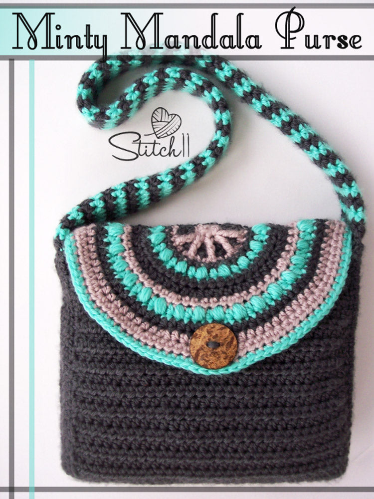 Minty Mandala Purse Crochet Pattern