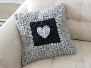 Aligned Cobble Stitch Pillow Crochet Pattern