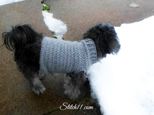 Crochet Dog Sweater for Extra Small Dogs