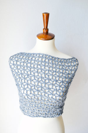 Lace Star Flower Wrap Crochet Pattern