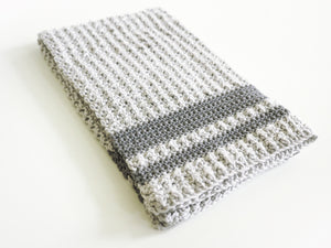 Aligned Cobble Tea Towel Crochet Pattern