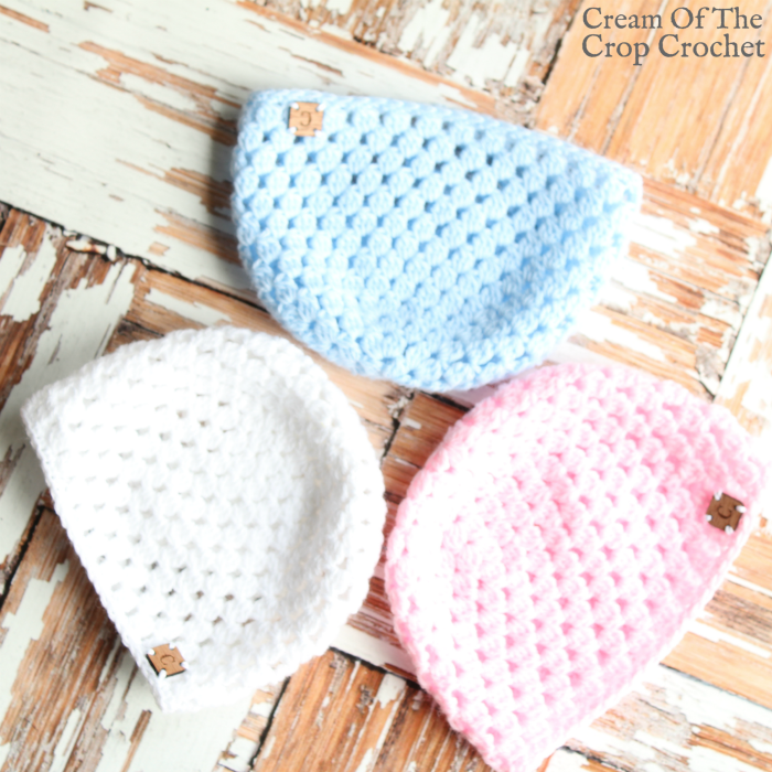 Cluster Newborn Hat Crochet Pattern