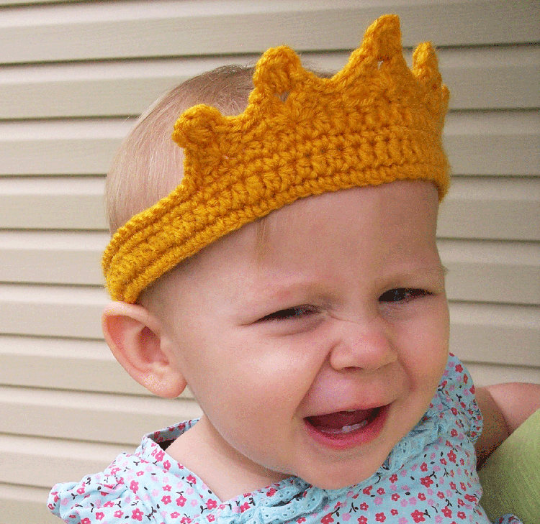 Child Princess Crown Crochet Pattern