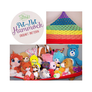 Toy Net Hammock Crochet Pattern