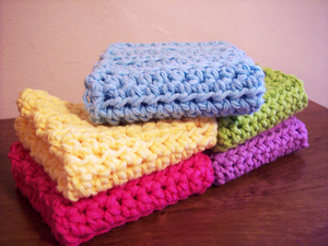 Simple Crochet Dish Cloth Pattern