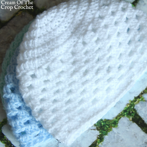 Granny Stitch Newborn Hat Crochet Pattern
