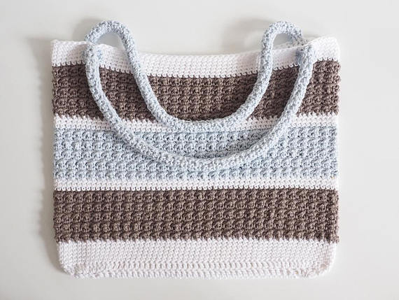Aligned Cobble Stitch Anytime Tote Crochet Pattern
