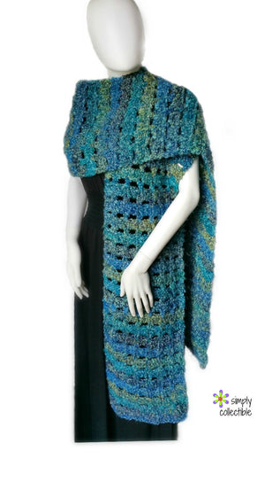 Coraline in Rome Oversized Super Scarf Crochet Pattern