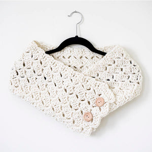 Button Cowl Crochet Pattern