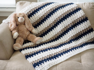 "Easy ""Done in a Day"" Crochet Baby Blanket Pattern"