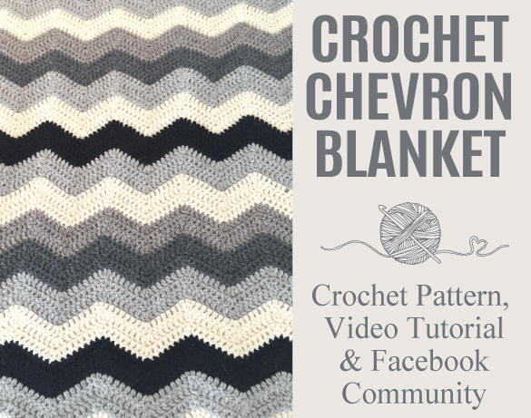 Chevron Blanket Crochet Pattern & Step-By-Step Video Tutorial and Facebook Community