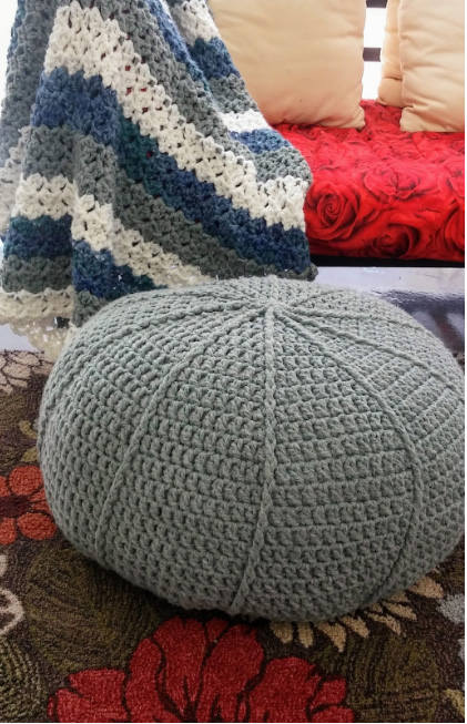 Pillow and Pouf Crochet Patterns & Step-By-Step Video Tutorial and Facebook Community