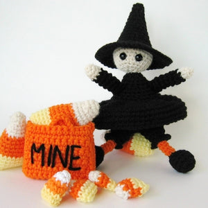 Sweetest Lil Witch Amigurumi Crochet Pattern Halloween Witch Amigurumi Doll with Trick or Treat Bag