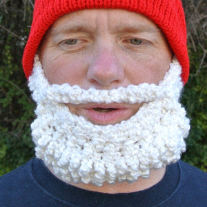 Crochet Beard Beanie Pattern