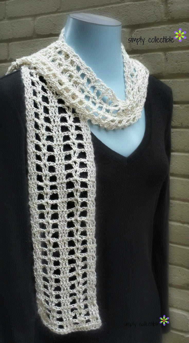 Coraline's Summer Crush Scarf Crochet Pattern