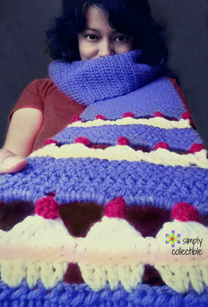 Crochet Pattern - Cupcake Lovers Scarf crochet pattern - pdf