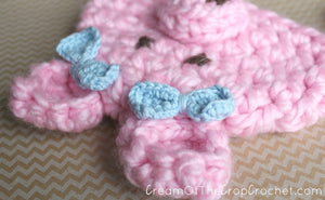 Newborn Pig Hat Crochet Pattern