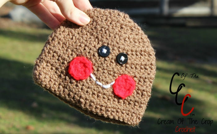 Preemie Newborn Gingerbread Hat Crochet Pattern