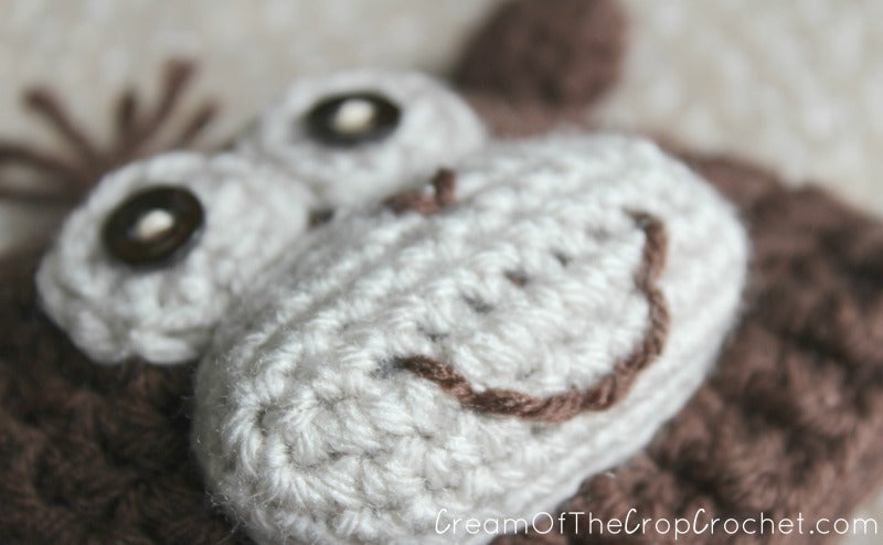 Preemie Newborn Monkey Hat Crochet Pattern