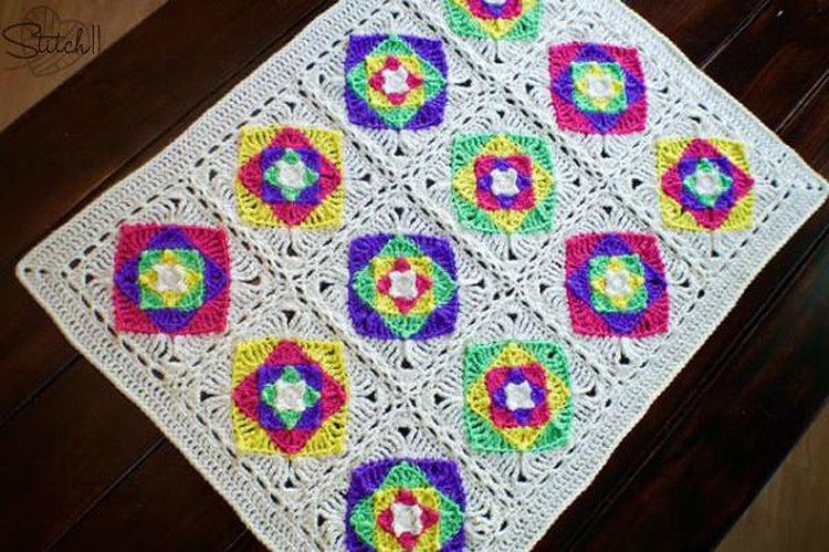 Optical Illusion Baby Blanket Crochet Pattern