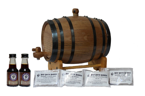 2-Liter American White Oak Barrel Bourbon Kit with Cleaning Kit