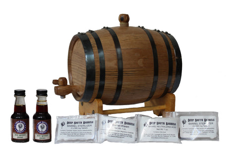 2-Liter American White Oak Barrel Irish Whiskey Kit with Cleaning Kit