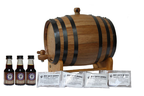 3-Liter American White Oak Barrel Bourbon Kit with Cleaning Kit